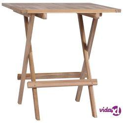 Vidaxl składany stolik bistro, lite drewno tekowe, 60 x 60 x 65 cm (8718475705062)