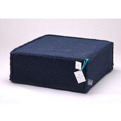 Granatowy szydełkowy puf Soft Flat - We Love Beds, 5902409732825
