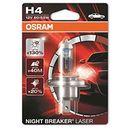 OSRAM H4 12V 60/55W P43t NIGHT BREAKER® LASER (do +130% więcej światła, do 40m dłuższy zasięg, do +20% bielsze światło), O-64193NBL-01B PL