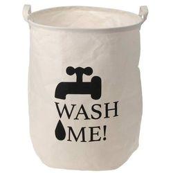 Płócienny worek, kosz na pranie,,Wash me