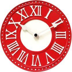 Zegar stołowy Nextime London Roman Table czerwony, kolor czerwony
