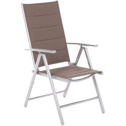 Krzesło ogrodowe aluminiowe Ibiza Silver / Taupe