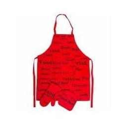 Zestaw fartuch kuchenny, rękawica i uchwyt do gorących naczyń Norah