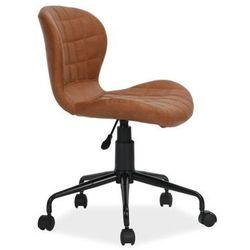 Pikowane krzesło obrotowe z ekoskóry scot marki Signal
