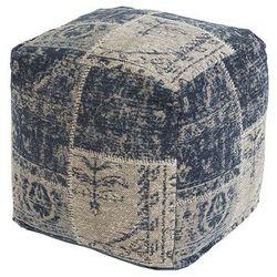 Vintage kwadratowy puf niebieski 45 x 45 x 45cm - Agra