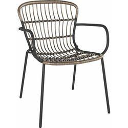 Krzesło Palhoca stal/ technorattan