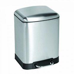 Awd interior pojemnik na odpadki kosz 6 litrów wolnoopadający kwadratowy satyna awd02031349