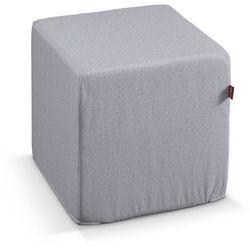 pufa kostka twarda, beżowy melanż, 40x40x40 cm, rustica marki Dekoria