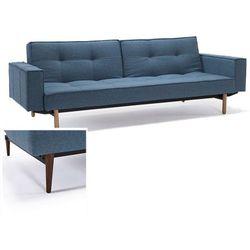 INNOVATION iStyle Sofa Splitback z podłokietnikami niebieska 525 nogi ciemne drewno - 741010020525-741007020-10-3-2, kup u jednego z partnerów