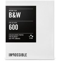 Wkłady do aparatu IMPOSSIBLE do Polaroid serii 600 (8 sztuk) Czarno-Biały