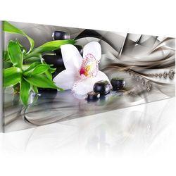 Artgeist Obraz - kompozycja zen: bambus, orchidea i kamienie