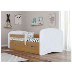 Łóżko dziecięce z materacem Happy 2X 80x160 - buk