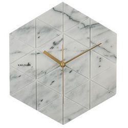 :: zegar ścienny marble sześciokątny biały marki Karlsson