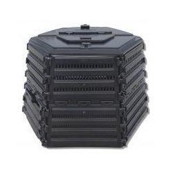 Ekokompostownik EKOBAT Termo XL-1400 Czarny + Wiosna w Twoim ogrodzie! z kategorii Kompostowniki