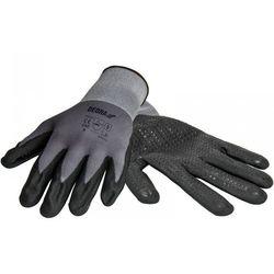 Rękawice robocze bh1006r10 czarno-szary (rozmiar xl) marki Dedra