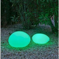 New garden lampa ogrodowa petra 40 solar biała - led, sterowanie pilotem (5900000047652)