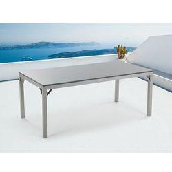 Beliani Meble ogrodowe - stół - granitowy - szary polerowany -180 cm - torino