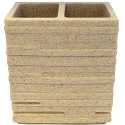 Wenko Pojemnik na szczoteczki BRICK, beżowy, 10,1x6,3x11,5 cm