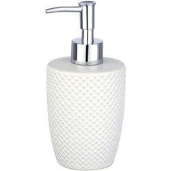 Wenko Dekoracyjny dozownik do mydła, z pompką, stylowy kształt, pojemnik na mydło,kolor biały, ceramiczny, 380 ml pojemności (4008838228289)