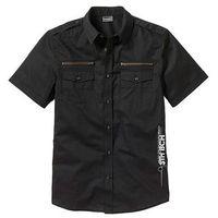 Koszula z krótkim rękawem bonprix czarny, kolor czarny