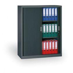 Szafa metalowa z żaluzjowymi drzwiami, 1200 x 1200 x 450 mm, ciemnoszary marki B2b partner