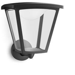 Philips Cottage - kinkiet zewnętrzny wznoszący czarny led wys.29cm, kategoria: lampy ścienne