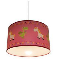 Dziecięca lampa wisząca PINK UNICORN 1xE27/60W/230V, towar z kategorii: Oświetlenie dla dzieci