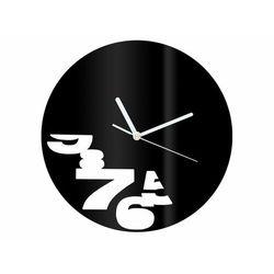 Zegar z pleksi na ścianę Abstrakcja z białymi wskazówkami