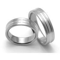 Obrączki ślubne z stali nierdzewnej ZERO Collection rz06248+rz06248 ()