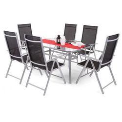 Zestaw mebli ogrodowych aluminiowych Ibiza Basic Silver/Black 6+1, kup u jednego z partnerów