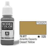 VALLEJO Farba Nr125 Desert Yellow 17ml z kategorii farby modelarskie
