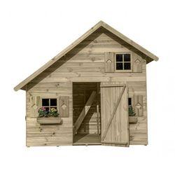 Drewniany domek ogrodowy piętrowy dla dzieci amelia marki 4iq
