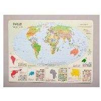 Podkładka na biurko - Mapa polityczna Świata - .