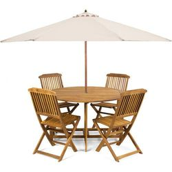 Fieldmann meble ogrodowe Holly + parasol kremowy - sprawdź w wybranym sklepie