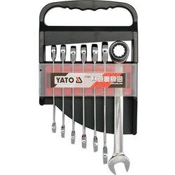 Yato Zestaw kluczy płasko-oczkowych yt-0208 10 - 19 mm z grzechotką (7 elementów)