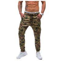 Spodnie joggery bojówki męskie moro-khaki Denley 0404, 1 rozmiar