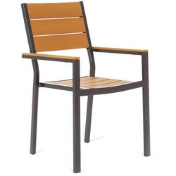 Krzesło ogrodowe aluminiowe Salvador Black / Teak (5902425326206)