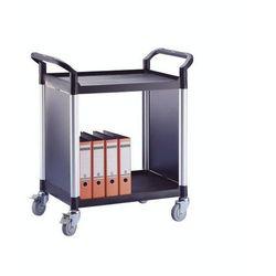 Wózek uniwersalny, ze ściankami z metalu, z 2 ściankami bocznymi, 2 piętra, dł.
