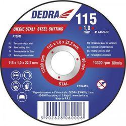 Tarcza do cięcia DEDRA F13011 115 x 1 x 22.2 mm do stali ze sklepu ELECTRO.pl