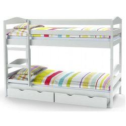 Drewniane łóżko piętrowe dixi - białe marki Producent: elior