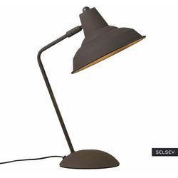 lampka na biurko andy brązowa marki Selsey