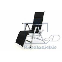 Garthen Deluxe krzesło ogrodowe z ustawieniem oparcia z podnóżkiem (4025327344862)