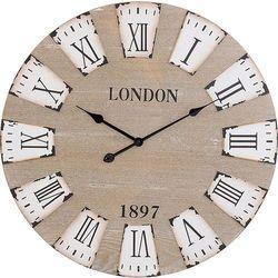 Drewniany zegar ścienny LONDON 3D, Ø 70 cm