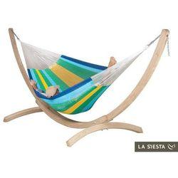 Zestaw hamakowy: siatkowy hamak mexicana ze stojakiem canoa, canaria mxh24cns201 marki La siesta