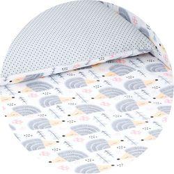 dwustronna pościel 2-el jeżyki szare / kropki szare do łóżeczka 60x120cm marki Mamo-tato