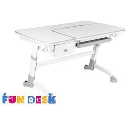 Amare grey with drawer - ergonomiczne, regulowane biurko dziecięce z szufladą marki Fundesk