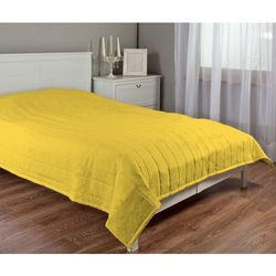 Dekoria Narzuta pikowana w pasy, żółty, szer.170 × dł.210 cm, Loneta