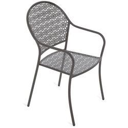 Home & garden Krzesło ogrodowe metalowe maja grey (5902425324837)