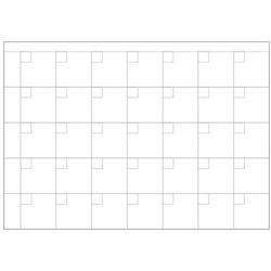 Tablica magnetyczna suchościeralna lean planer kratki 003 marki Wally - piękno dekoracji