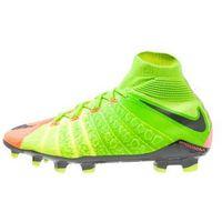 Nike Performance HYPERVENOM PHANTOM 3 DF FG Korki Lanki electric green/black/hyper orange/volt